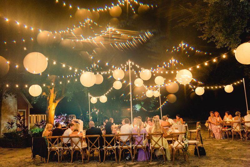 Bistro Lighting Rustic Garden Wedding In 2019