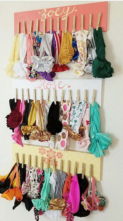 Large Headband Holder Board With Name Bow Holder Organizer