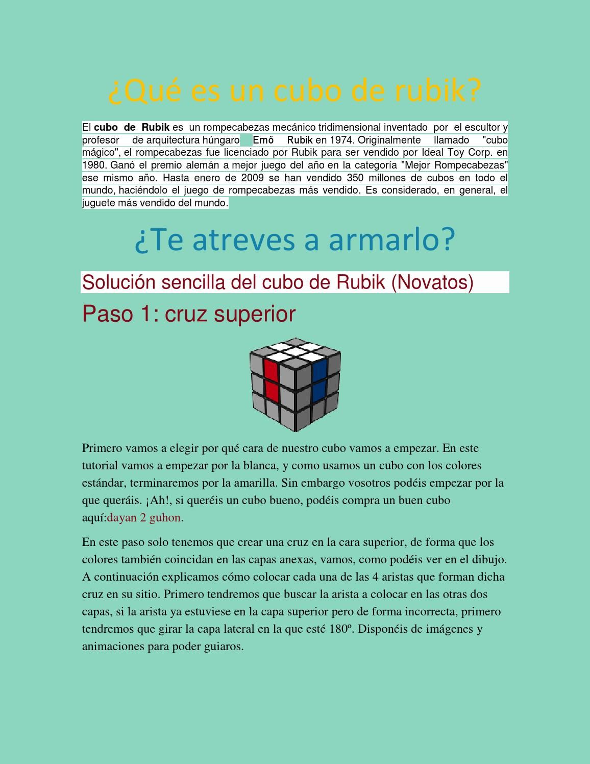 Qué Es Un Cubo De Rubik Cubo Rubik Rubik Que Es Un Cubo