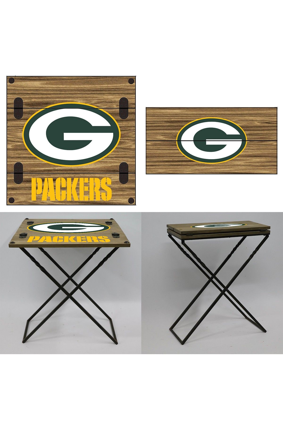 Green Bay Packers Folding Armchair Table