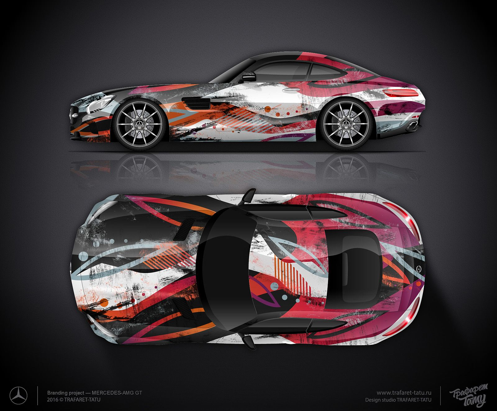 design concept #1 for mercedes amg gt for sale | car wrap design