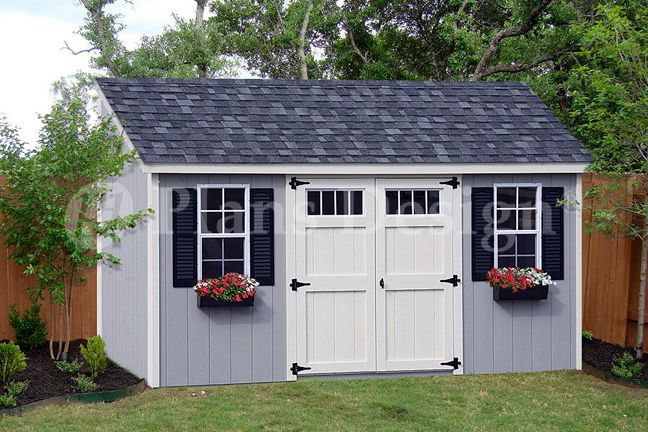 Garden Sheds 8 X 16 8' x 16' utility garden storage deluxe shed plans, lean-to roof