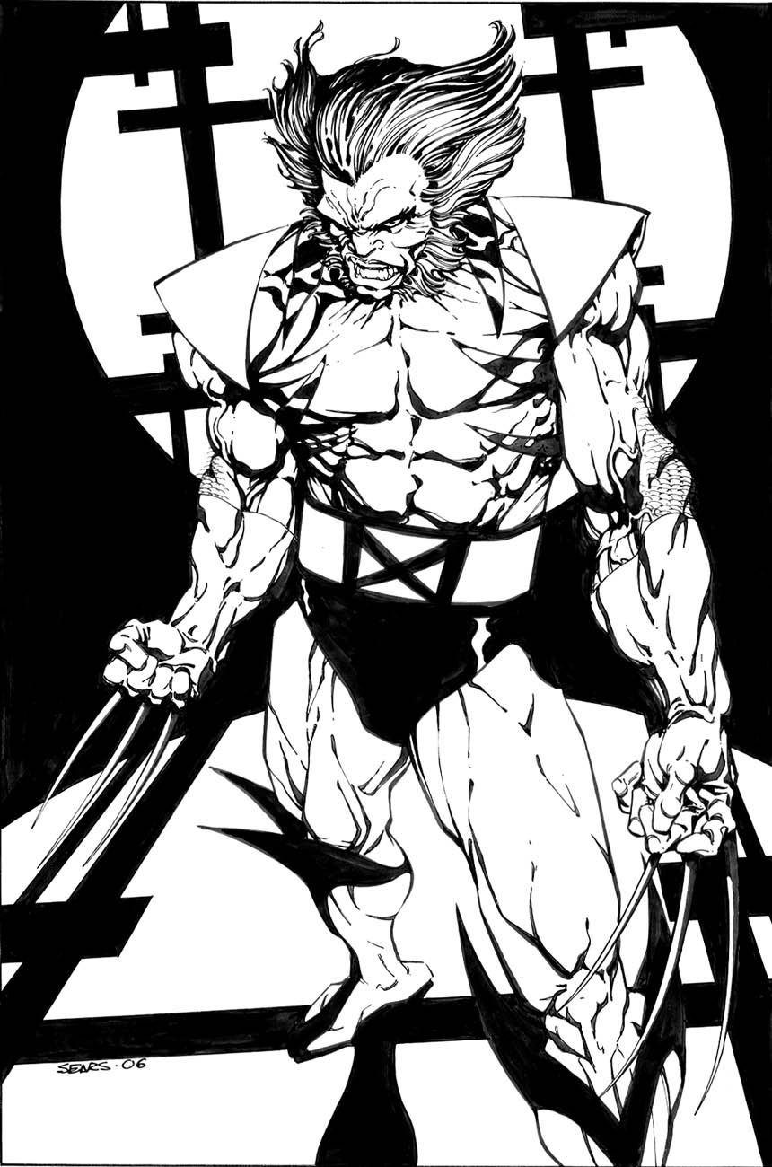 32d7aec1c15 Wolverine   Bart Sears   Comic art community, Wolverine art, Comic art
