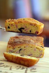 Cake aux olives et au jambon blanc parfait pour un petit apéritif ou une entrèe