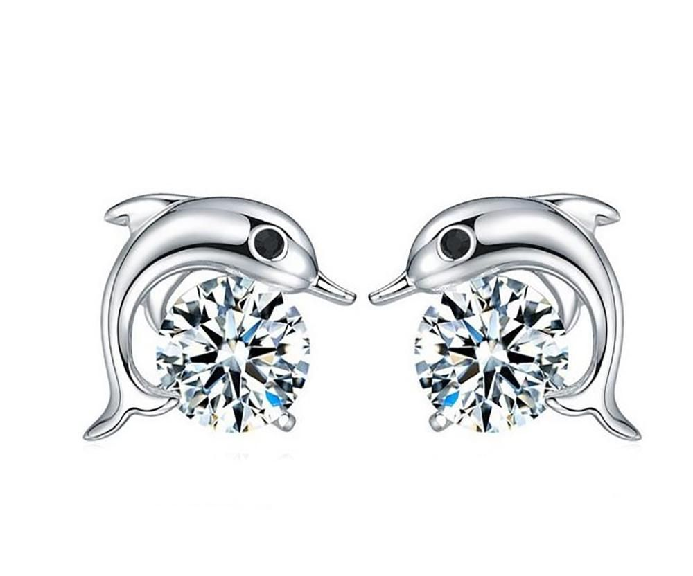 77a3e663a28cd Dolphin Small Stud Earrings | Products | Sterling silver earrings ...