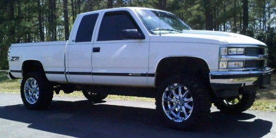 97 Z71 1500 White Chevy 1997 Chevrolet 1500 Z71 Chevy