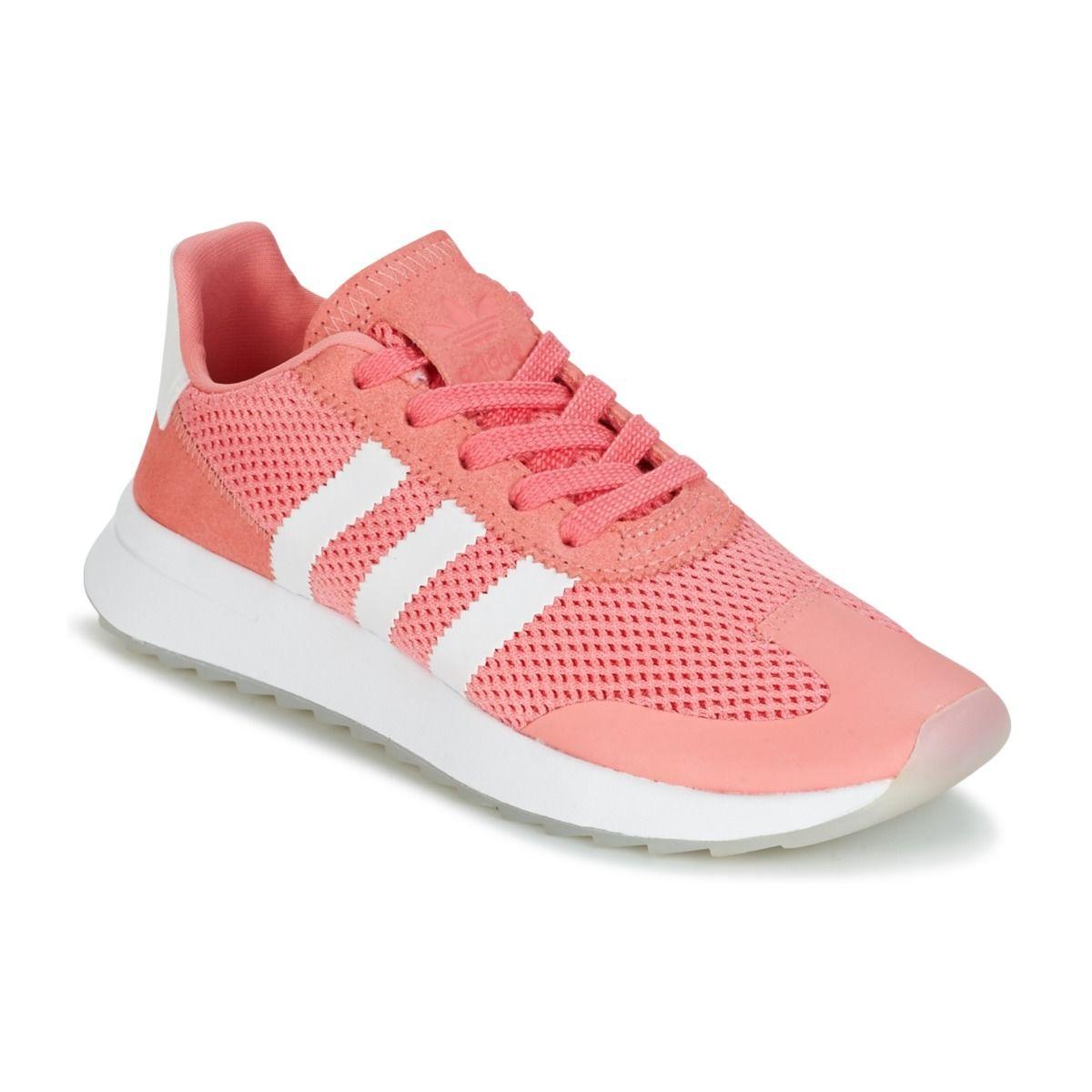 Adidas Originals FLB W Rose / Corail pas cher prix Baskets Femme Spartoo  89.95 €
