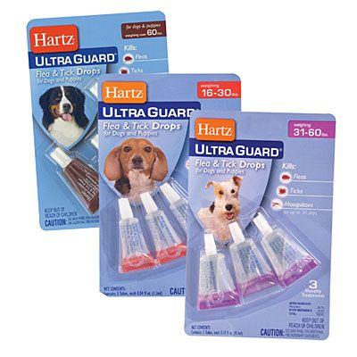 Hartz Ultra Guard Flea Tick Drops 3 Pack Fleas Flea And Tick Dog Supplies