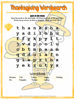 photograph about Thanksgiving Puzzles Printable Free named Absolutely free Printable Thanksgiving Puzzles and Video games Thanksgiving