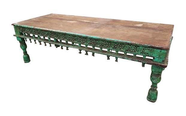 Astonishing Very Rare Massive Solid Antique Indian Coffee Table C 1850S Inzonedesignstudio Interior Chair Design Inzonedesignstudiocom