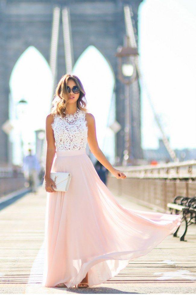Maxirock kombinieren: So trägt man die bodenlangen Röcke richtig! #holidayclothes