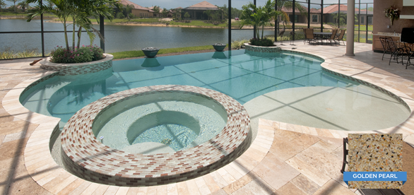 Pebble pool finish swimming pool finishes pinterest screen enclosures pool liners and for Pebble finishes for swimming pools