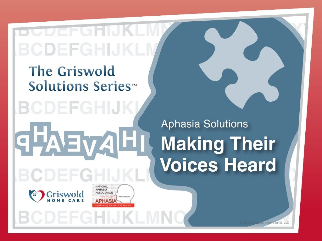 Aphasia Webinar By Griswold Home Care Via Slideshare