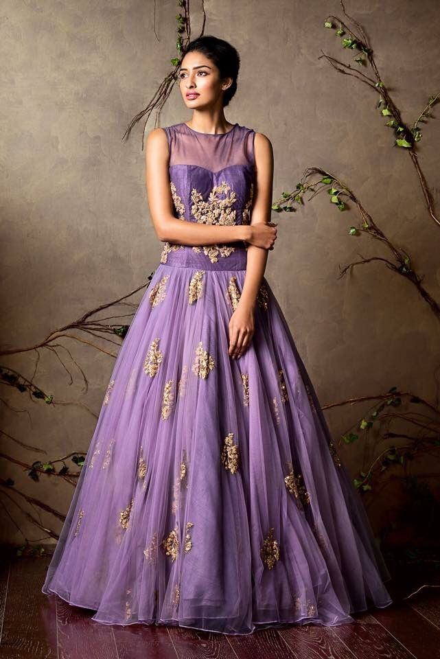 Elegant light purple gown