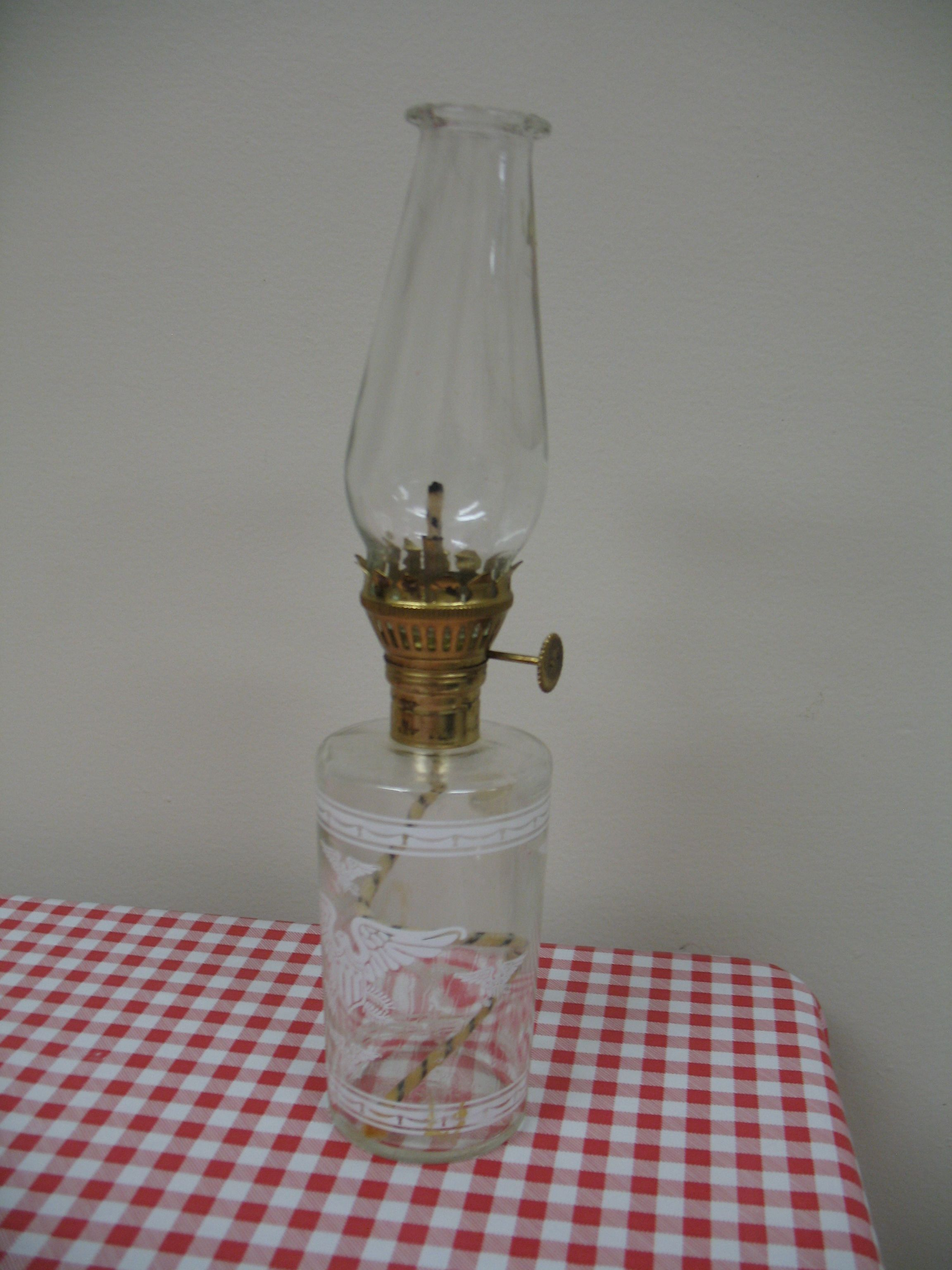 10 Tall Vintage Miniature Oil Lamp American Eagle Design Metal Hardware Vintage Oil Lamps Eagle Oil Lamp Small Oil Lantern Vintage Miniatures Oil Lamps