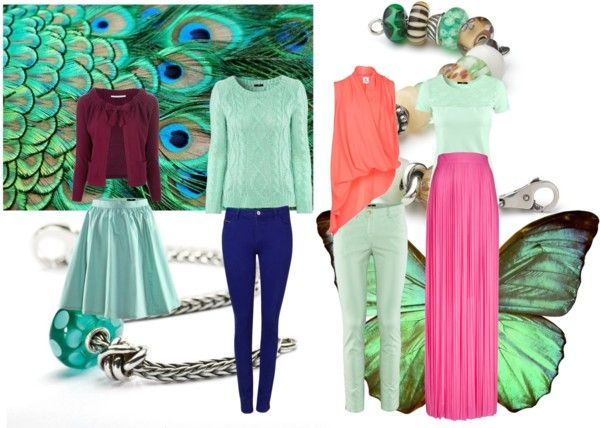 """On Trend Trollbeads: Wearing the Mint Factor"" by mytrollbeads on Polyvore"