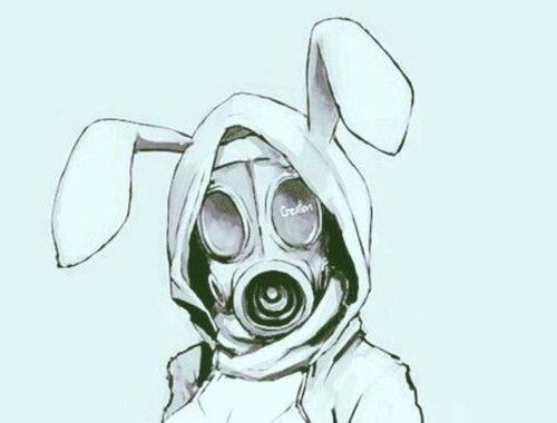 e049392bbbf Image de anime, bunny, and gas mask | Tattoo ideas | Mask drawing ...