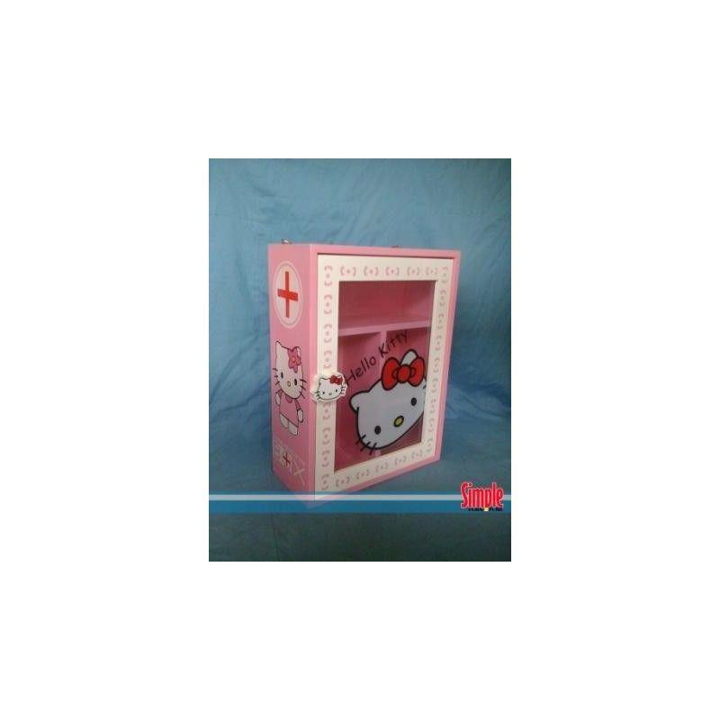 Kotak obat hello kitty warna pink desain unik dan