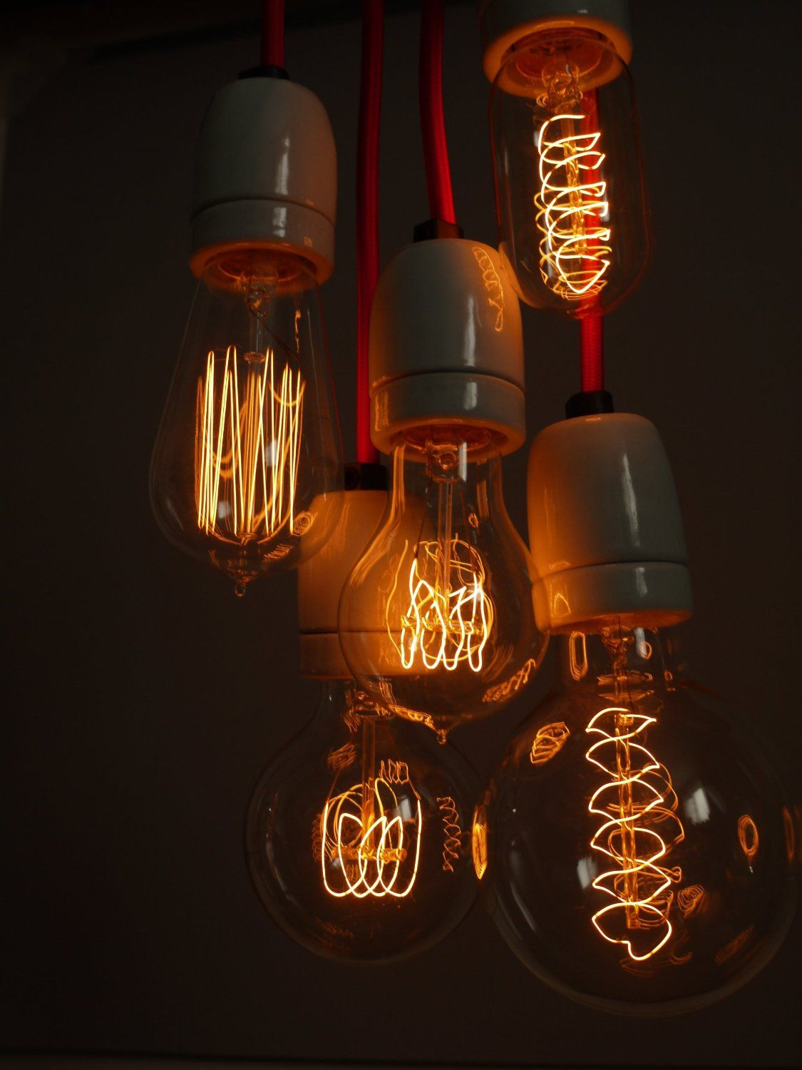 Studio Lighting Ideas Vintage Style Filament Light Bulb Quad Loop Old Fashioned