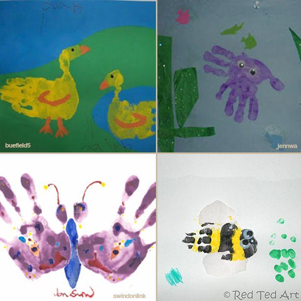 20 Ideias De Desenhos Usando Maos E Tinta Atividades Com Tinta