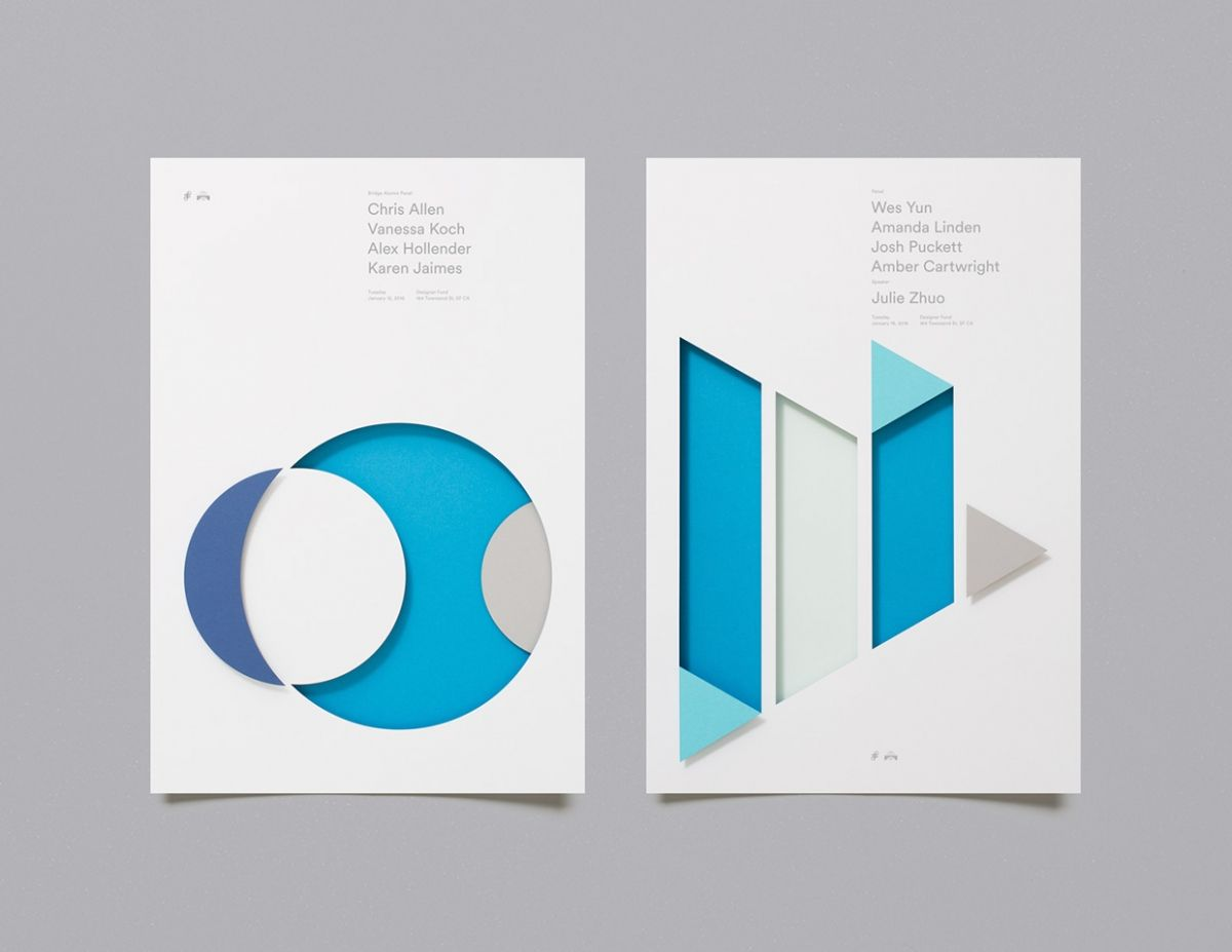 Moniker Uses Paper To Create Tactile Abstract Posters For Designer Fund Poster Series Abstract Poster Graphic Design Inspiration