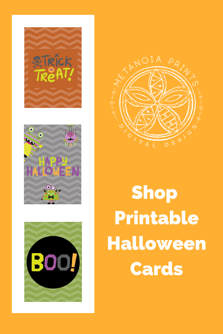 photograph relating to Printable Halloween Cards named Halloween Printable Playing cards Prompt Electronic Obtain Halloween