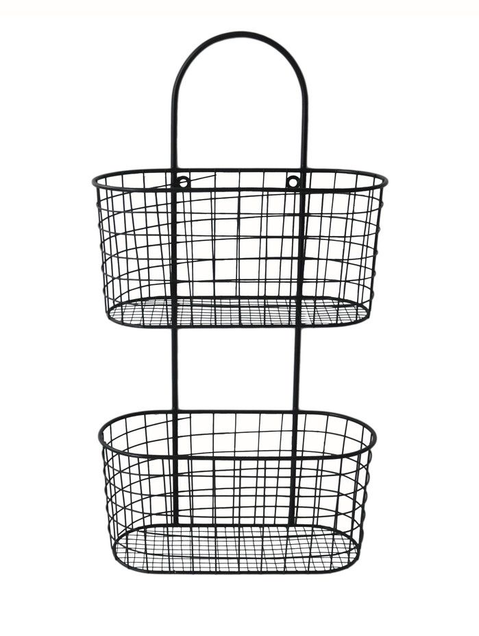 Metal Wall hanging Storage Basket | Baby Ashley | Pinterest | Wire ...