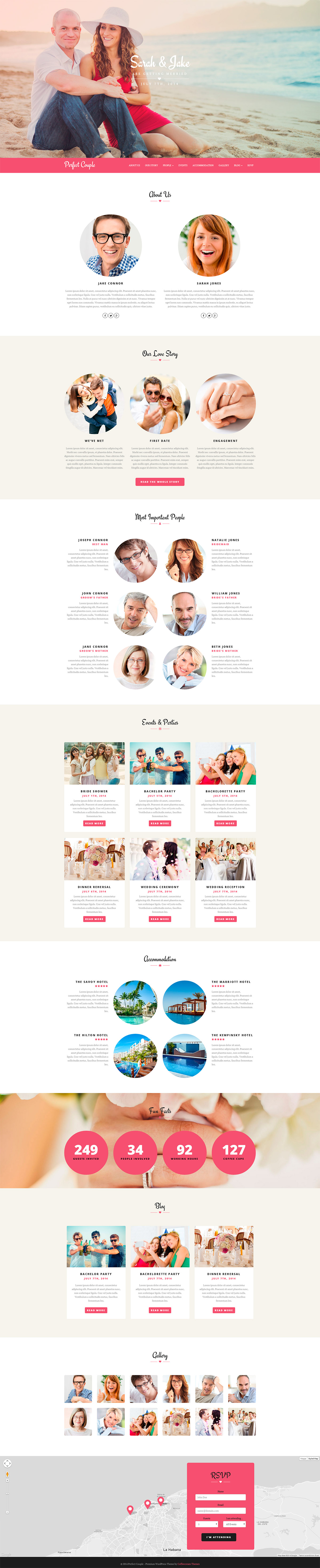 Perfect Couple - Wedding WordPress Theme | Themes themes, Wedding ...