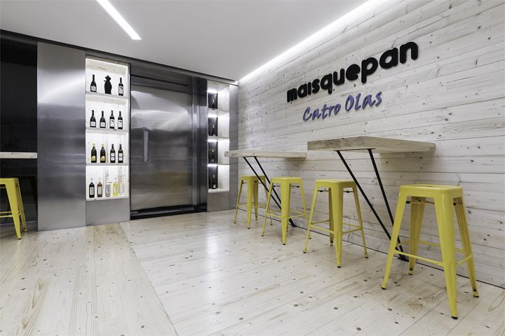 maisquepan bakery uses function and flash commercial interior design news - Commercial Interior Design Blog