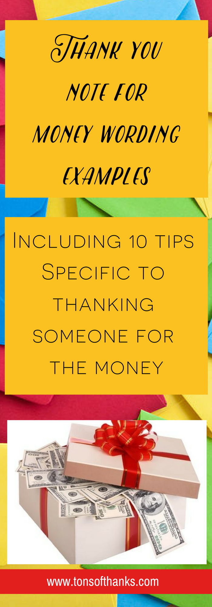 how to write a thank you note for money with examples and
