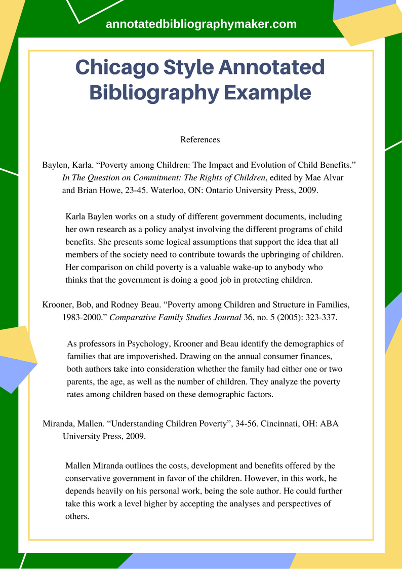 This Chicago Style Annotated Bibliography Example Will Provide You