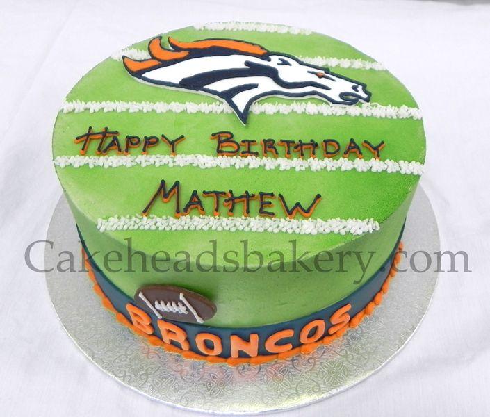 Matthews Denver Broncos Cake Kids Birthday Pinterest Denver