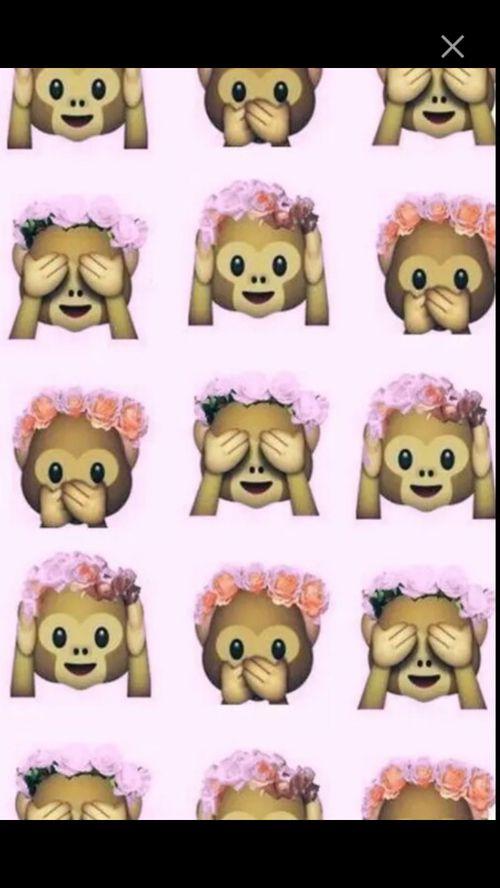 Monkey Emoji And Wallpaper Image Emoji Wallpaper Cute Wallpapers Pink Fur Wallpaper