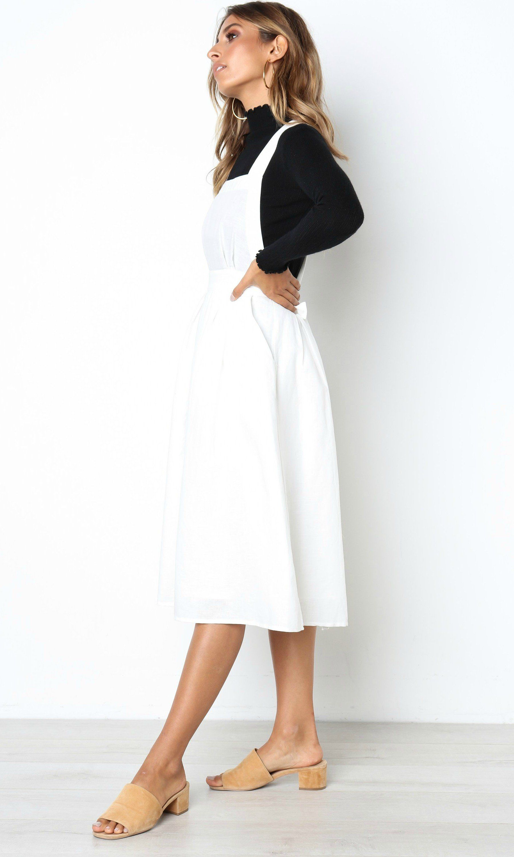 Pinafore linen midi dress | Pinterest | Midi dresses, Linens and ...