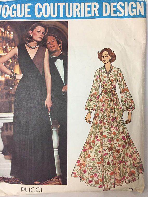 Original 70s Vogue Couturier Design 2959 Pucci Evening Gown | 70s ...