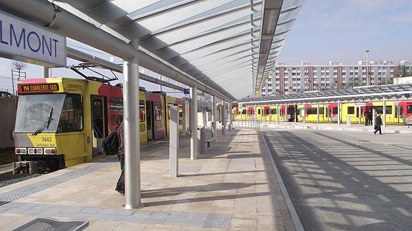 charleroi metro station soleilmont belgium