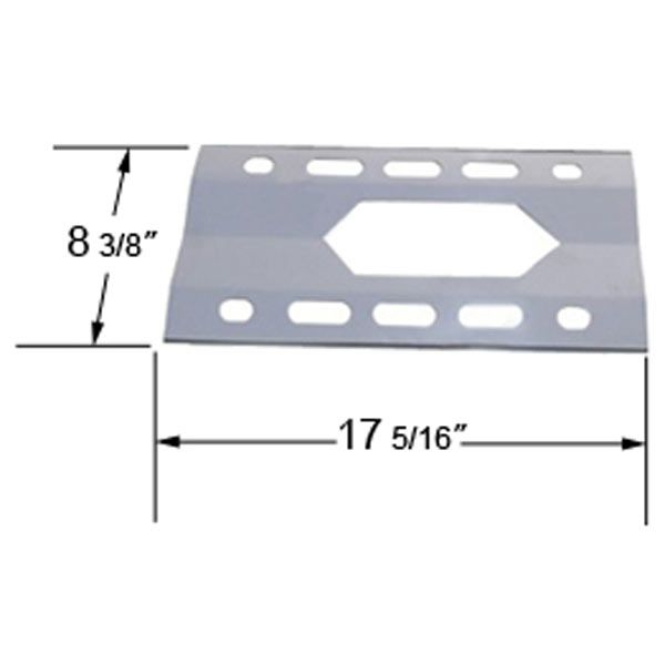 GAS GRILL STAINLESS STEEL HEAT PLATE FOR COSTCO, HARRIS