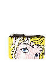 Yellow Cartoon Face Zip Top Purse | New Look