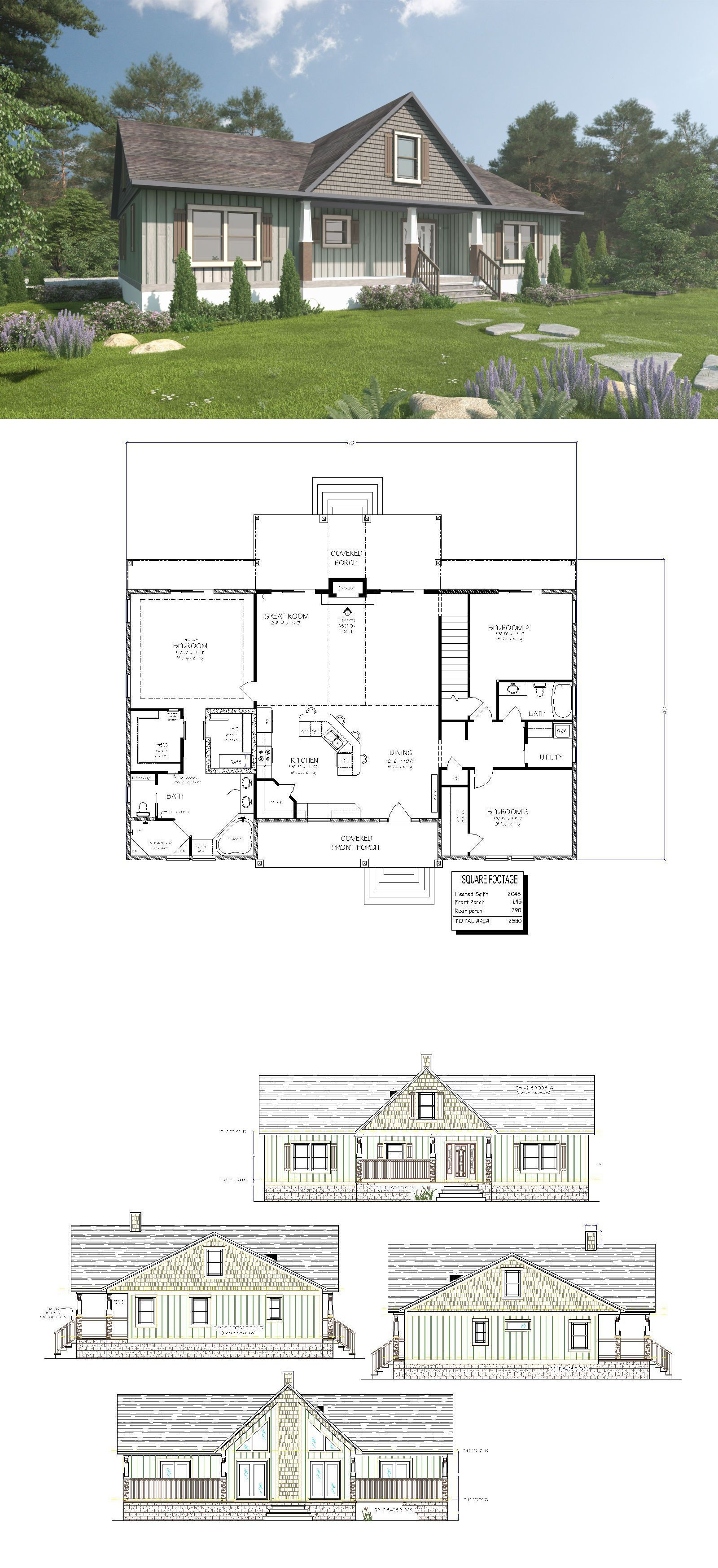 Building Plans And Blueprints 42130 Custom Home House Plan 2050 Square Foot Buy It Now Only 75 On Ebay House Plans Custom Homes Building Plans