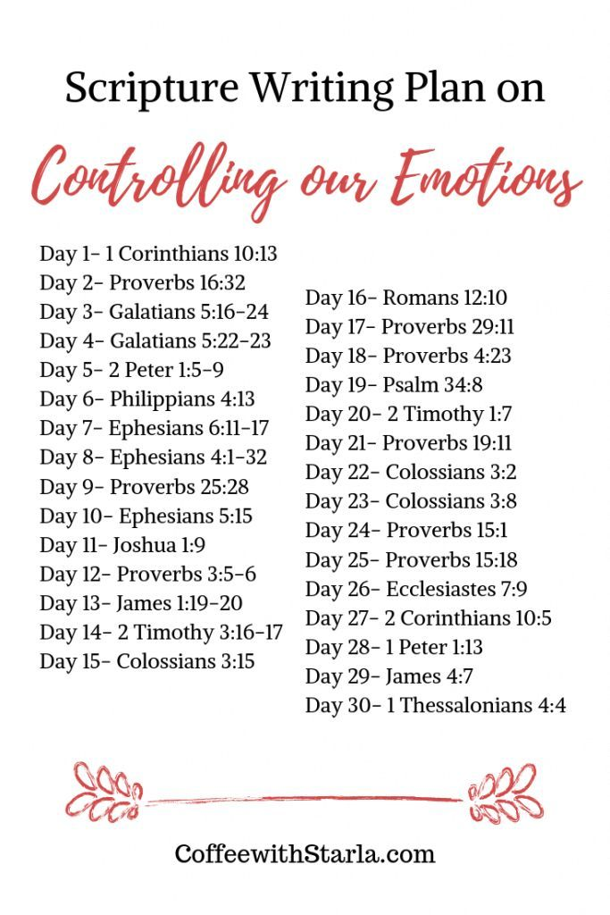 Bible Verse on Controlling Emotions ~ Coffee With Starla #bible