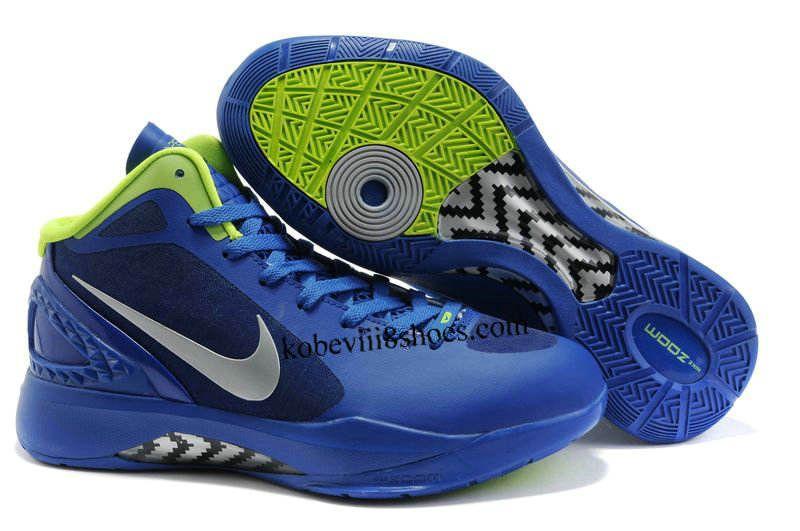 official photos 1fc88 1788e Nike Zoom Hyperdunk 2011 Blue Silver Green Basketball Shoes