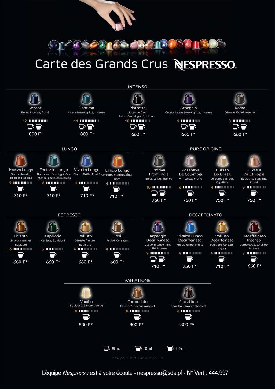 Carte Grands Crus 2016v3 Jpg 900 1273 Nespresso Coffee Capsules Nespresso Recipes Nespresso Pods