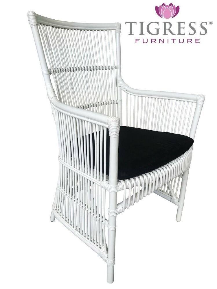 Incredible Details About Connor Hampton Style White Cane Rattan Caraccident5 Cool Chair Designs And Ideas Caraccident5Info