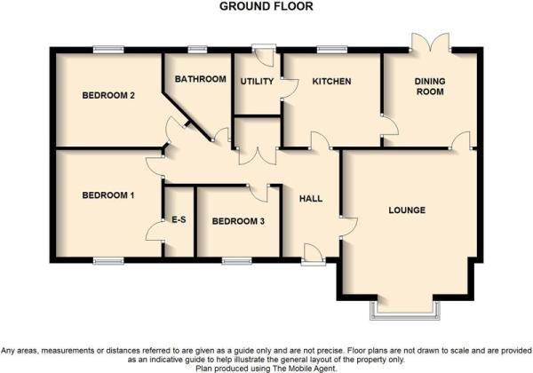 2 bedroom bungalow floor plans uk google search for Layout design of bungalows