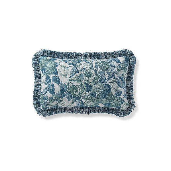 Frontgate Je T\'aime Green Outdoor Lumbar Pillow ($130) ❤ liked on ...