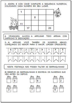 40 Atividades Matematicas Festa Junina Atividades Sobre Festa