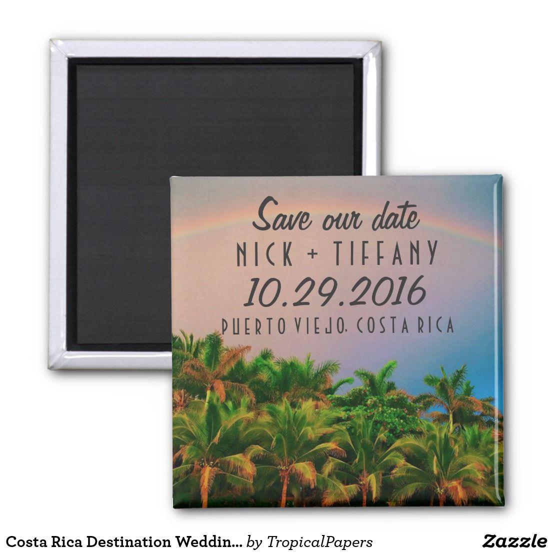 Costa Rica Destination Wedding Save the Date
