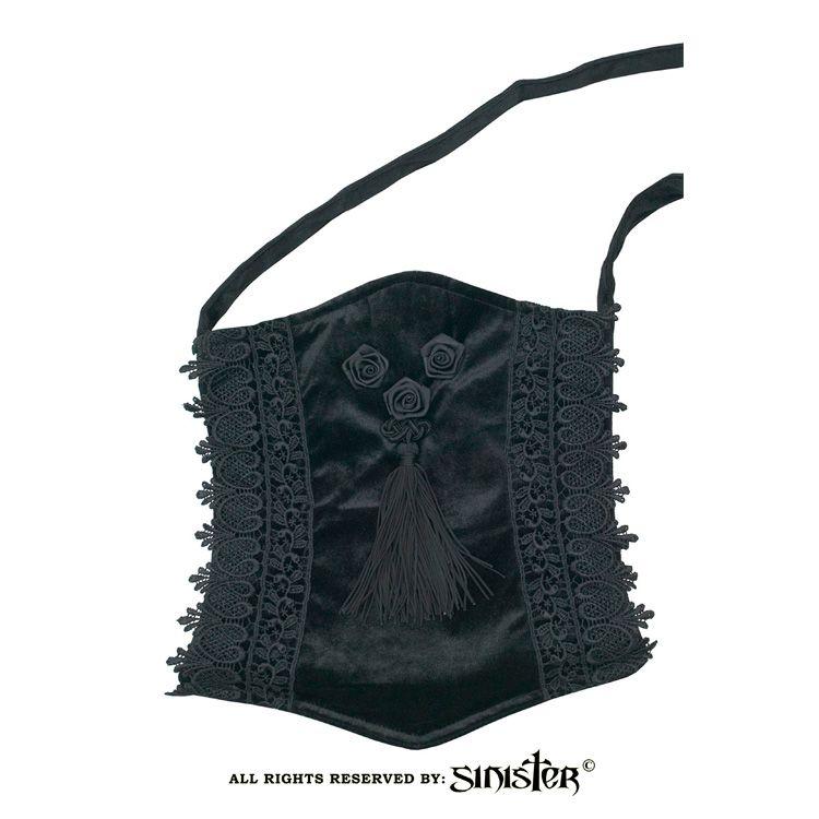 3b9750de36 Velvet Bag with Roses and Tassle by Sinister.