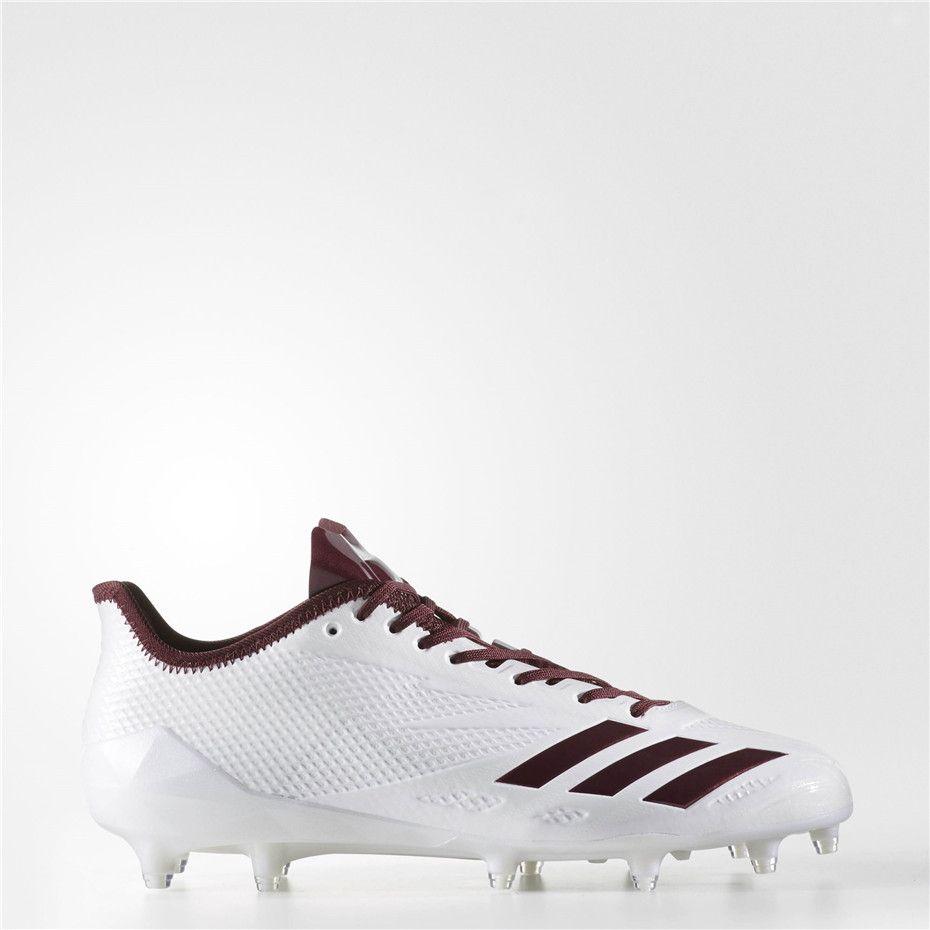 wholesale dealer f20d0 675f5 Adidas adizero 5-Star 6.0 Cleats (Running White Ftw   Light Maroon   Light  Maroon)