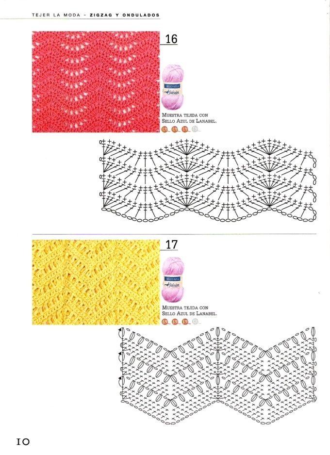 puntos calados a crochet | manualidades crochet | Pinterest | Puntos ...